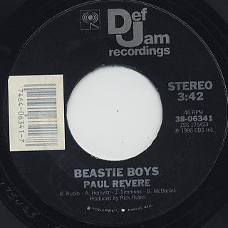 Beastie Boys / It's The New Style c/w Paul Revere back