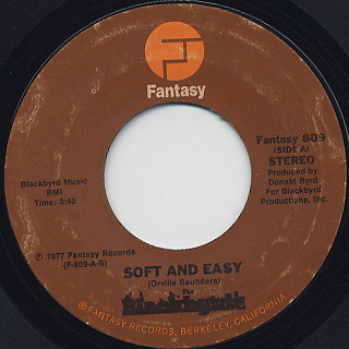 Blackbyrds / Soft and Easy c/w Something Special
