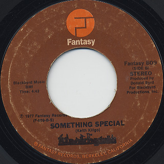 Blackbyrds / Soft and Easy c/w Something Special back