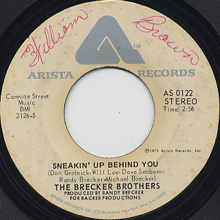 Brecker Brothers / Sneakin' Up Behind You