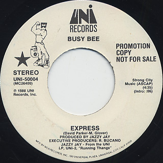 Busy Bee / Express(Promo 45s) back
