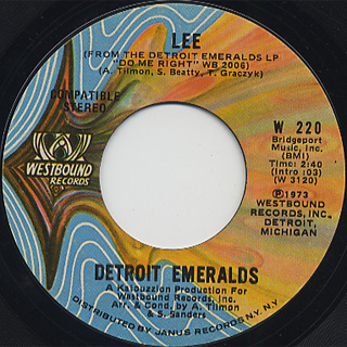 Detroit Emeralds / Whatcha Gonna Wear Tomorrow back