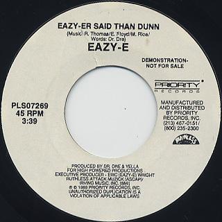 Eazy-E / Eazy-Er Said Than Dunn