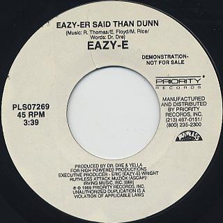 Eazy-E / Eazy-Er Said Than Dunn back