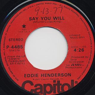 Eddie Henderson / Say You Will