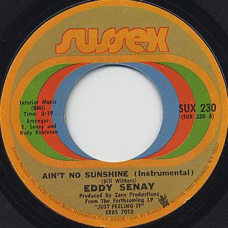 Eddy Senay / Ain't No Sunshine (Instrumental)