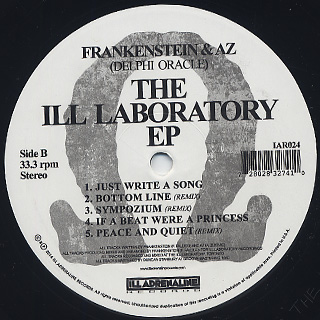 Frankenstein & AZ / The Ill Laboratory EP back