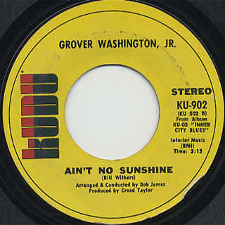 Grover Washington, Jr. / Inner City Blues (45) back