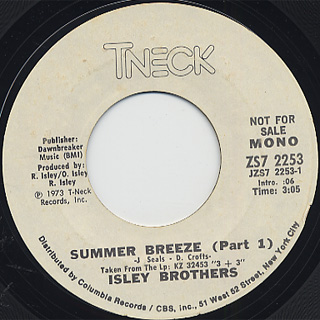 Isley Brothers / Summer Breeze back