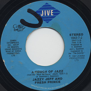 Jazzy Jeff And Fresh Prince / A touch Of Jazz