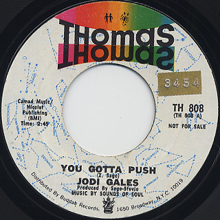 Jodi Gales / You Gotta Push (Promo) back