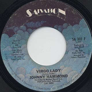 Johnny Hammond / Yesterday Was Cool c/w Virgo Lady back