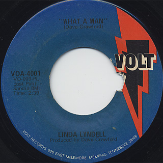 Linda Lyndell / What A Man c/w I Don't Know