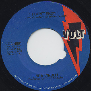 Linda Lyndell / What A Man c/w I Don't Know back