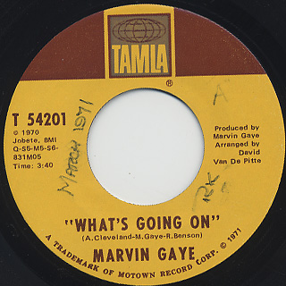 Marvin Gaye / What's Going On c/w God Is Love