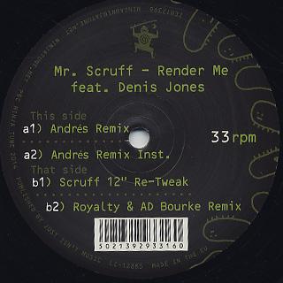 Mr. Scruff / Render Me (Andres Remix) back