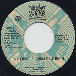 Naughty By Nature / O.P.P. c/w Everything's Gonna Be Alright back