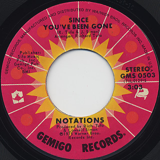 Notations / It's Alright c/w Since You've Been Gone back