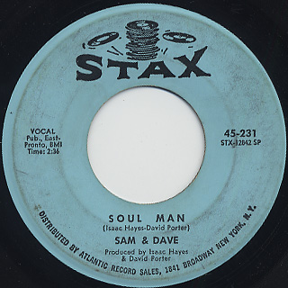 Sam And Dave / Soul Man c/w May I Baby