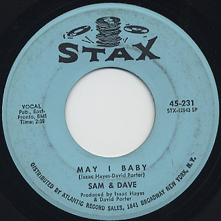 Sam And Dave / Soul Man c/w May I Baby back
