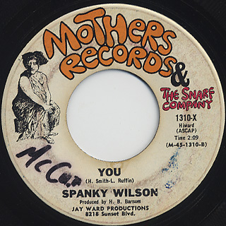 Spanky Wilson / You c/w Love Land front