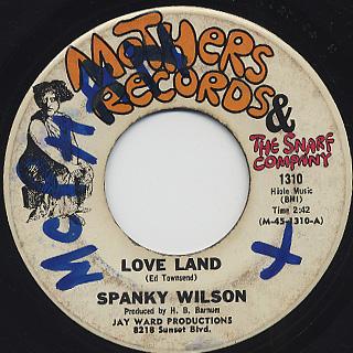 Spanky Wilson / You c/w Love Land back