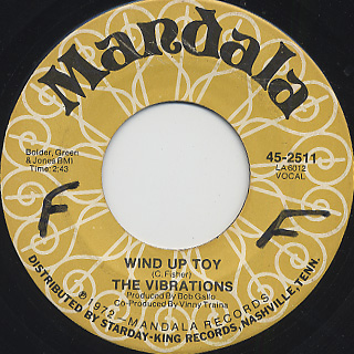 Vibrations / Wind Up Toy c/w Ain't No Greens In Harlem