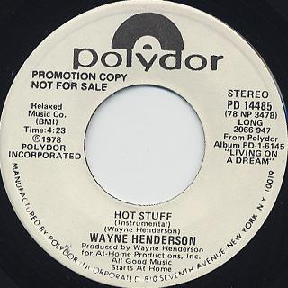 Wayne Henderson / Hot Stuff back