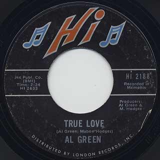 Al Green / Drivin' Wheel c/w True Love back