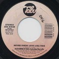 Alexander O'Neal / Never Knew Love Like This c/w What's Missing