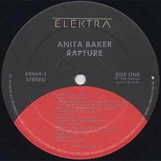 Anita Baker / Rapture label