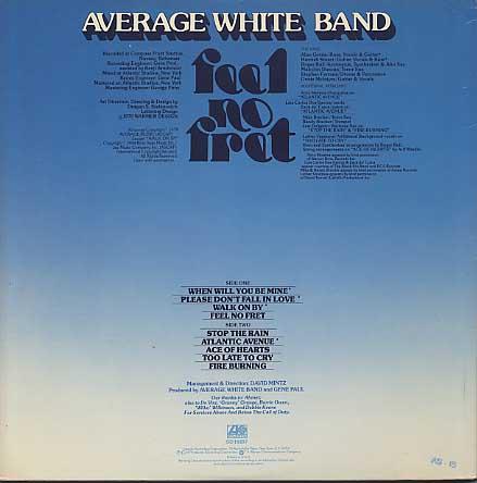Average White Band / Feel No Fret back