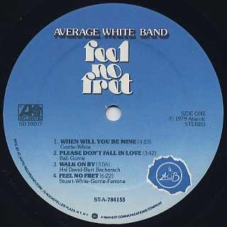 Average White Band / Feel No Fret label