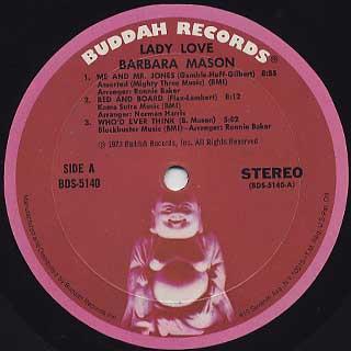 Barbara Mason / Lady Love label