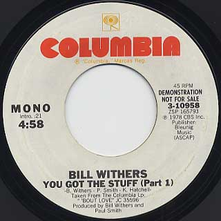 Bill Withers / You Got The Stuff(Part I) back