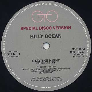Billy Ocean / Stay The Night