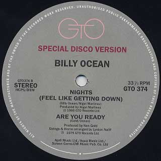 Billy Ocean / Stay The Night back