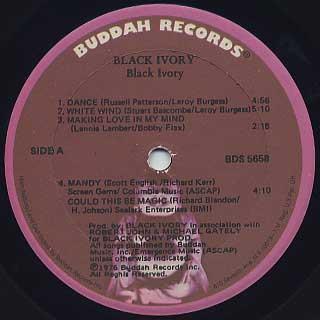 Black Ivory / S.T. label