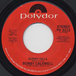 Bobby Caldwell / All Of My Love c/w Sunny Hills back