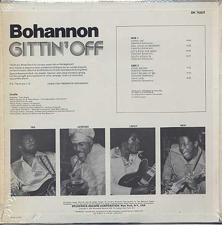 Bohannon / Gettin' Off back