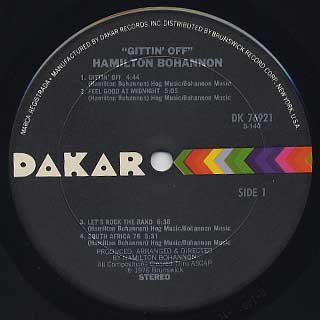Bohannon / Gettin' Off label