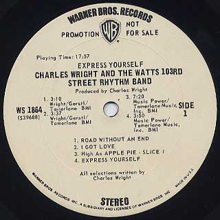 Charles Wright & The Watts 103rd Street Rhythm Band / Express Yourself label