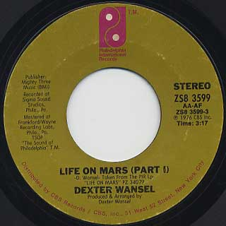 Dexter Wansel / Life On Mars(Part I) c/w (Part II) front
