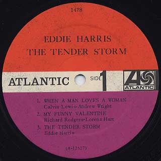 Eddie Harris / The Tender Storm label