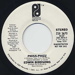 Edwin Birdsong / Phiss-Phizz back