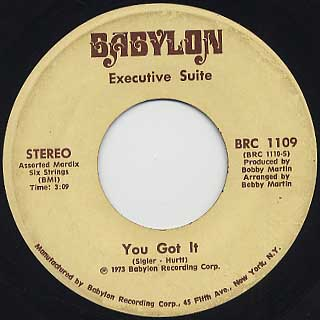 Executive Suite / I'm A Winner Now c/w You Got It back