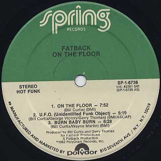 Fatback / On The Floor label