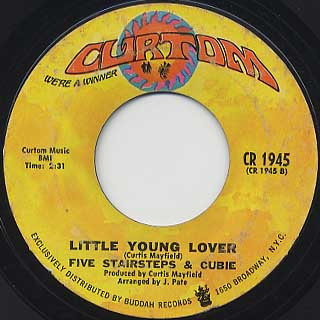 Five Stairsteps & Cubie / We Must Be In Love c/w Little Young Lover back