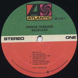 Freddie Hubbard / Backlash label