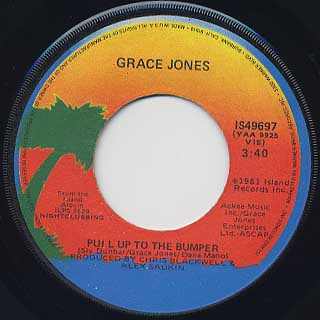 Grace Jones / Breakdown c/w Pull Up To The Bumper back